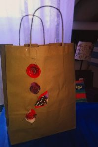 Enriched by flowers paper bag